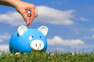 Concept of savings with piggy bank